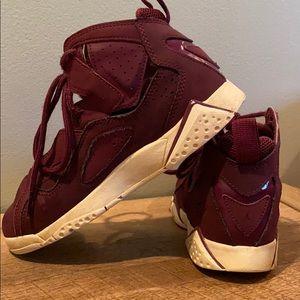 Jordans True Flight Size 1Y Burgundy Jordans